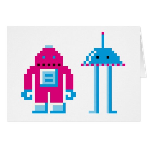 Robo y Bip Tarjeta De Felicitación