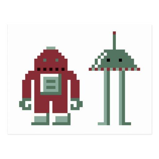 Robo y Bip Tarjetas Postales
