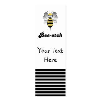 Robobee Bumble Bee Bee-otch Bookmark Mini Business Card
