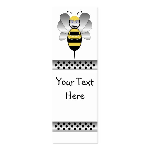 Robobee Bumble Bee Bookmark Double-Sided Mini Business Cards (Pack Of 20)