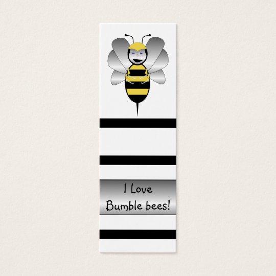 Robobee Bumble Bee Bookmark Mini Business Card