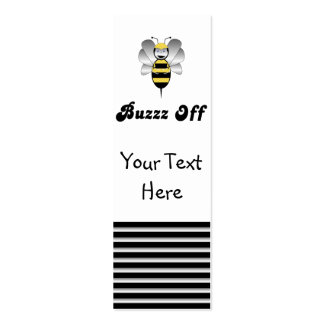 Robobee Bumble Bee Buzz Off Bookmark Mini Business Card