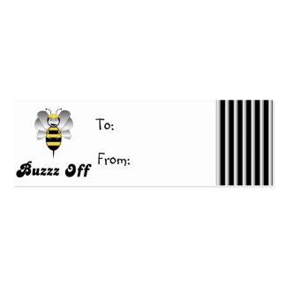 Robobee Bumble Bee Buzz Off Gift Tag Mini Business Card