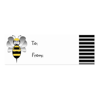 Robobee Bumble Bee Gift Tag Mini Business Card