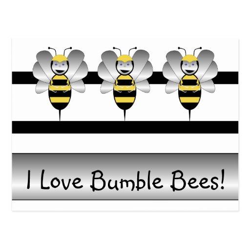 Robobee Bumble Bee Postcard