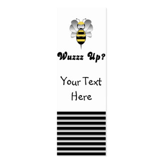 Robobee Bumble Bee Wuzz Up Bookmark Mini Business Card