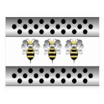 Robobee manosea la postal de la abeja