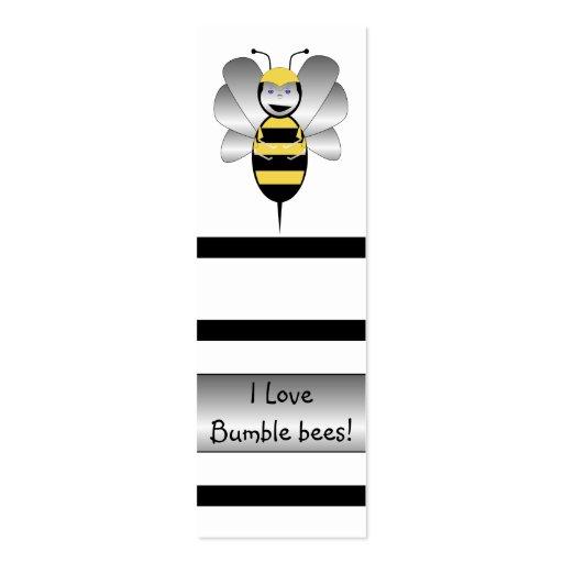 Robobee manosea la señal de la abeja plantillas de tarjetas de visita