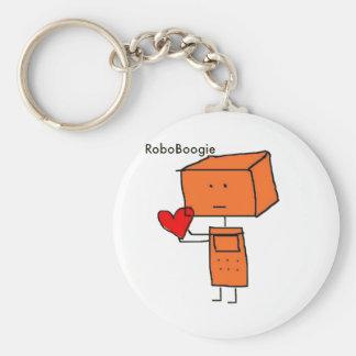 RoboBoogie Basic Round Button Keychain
