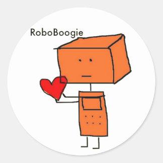 RoboBoogie Classic Round Sticker