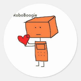 RoboBoogie Pegatina Redonda