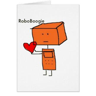 RoboBoogie Tarjeta De Felicitación