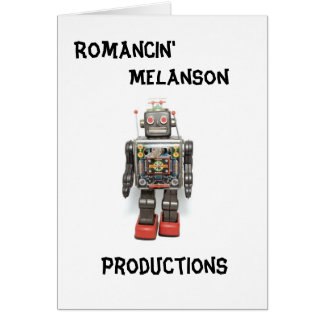 Roboface Notecard Stationery Note Card
