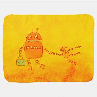 Robomama Geek Robot Receiving Blanket