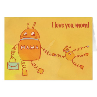 Robomama Mother's Day Greeting Cards