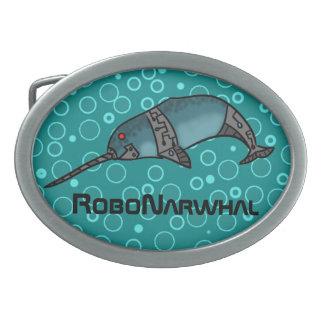 RoboNarwhal Oval Belt Buckle