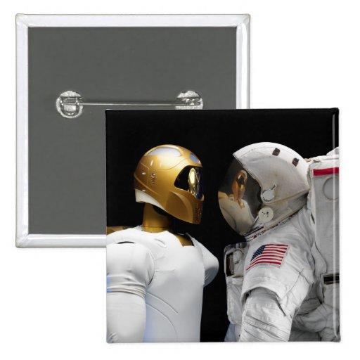Robonaut 2, a dexterous, humanoid astronaut hel 3 button