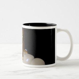 Robonaut 2, a dexterous, humanoid astronaut hel Two-Tone coffee mug
