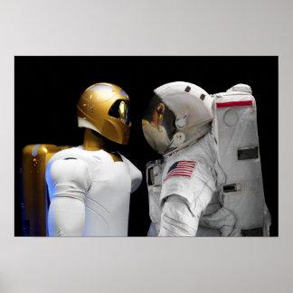 Robonaut 2, a dexterous, humanoid astronaut hel poster