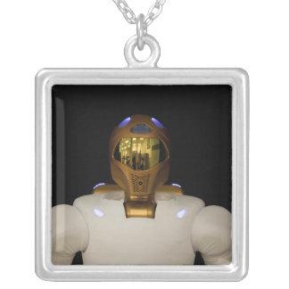 Robonaut 2, a dexterous, humanoid astronaut hel silver plated necklace