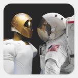 Robonaut 2, un diestro, hel 3 del astronauta del pegatina cuadrada
