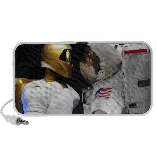 Robonaut 2, un diestro, hel 3 del astronauta del portátil altavoz