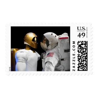 Robonaut 2, un diestro, hel 3 del astronauta del timbres postales