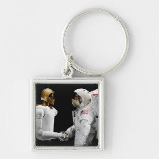 Robonaut 2, un diestro, hel 4 del astronauta del llavero cuadrado plateado