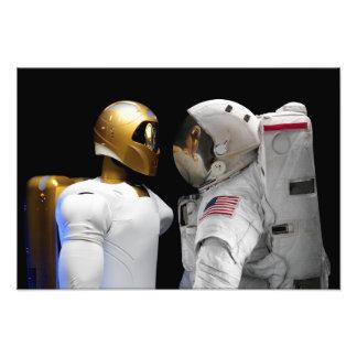 Robonaut 2 un diestro hel del astronauta del hum impresion fotografica