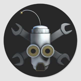 RoboPirates Classic Round Sticker