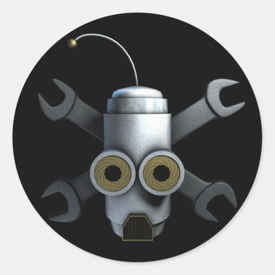 RoboPirates Classic Round Sticker