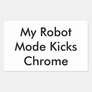 RoboPop - My Robot Mode Kicks Chrome Stickers