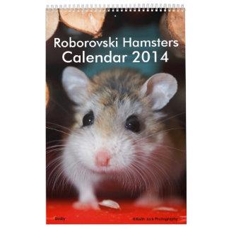 Roborovski Hamsters Calendar 2014