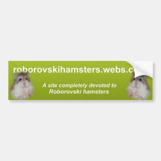 Roborovskihamsters banner - Bumper Sticker