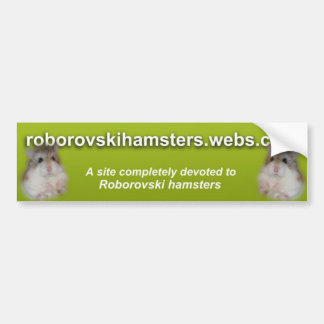 Roborovskihamsters - Bumper sticker 2
