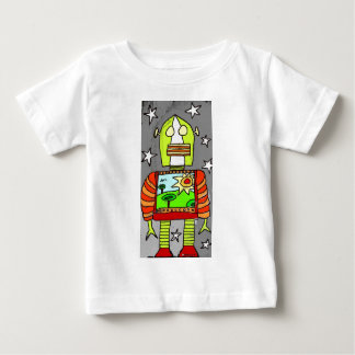 Robot1ColourSKY Baby T-Shirt