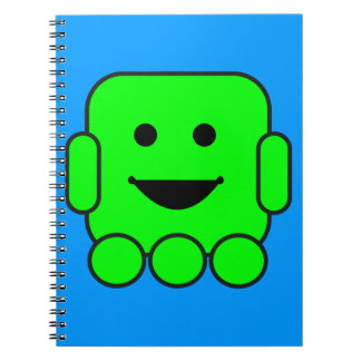 robot-156971  robot green android happy vehicle CA Notebook