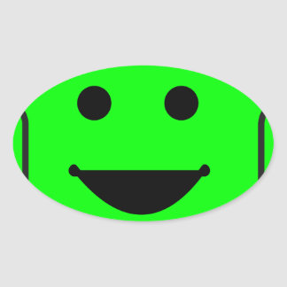 robot-156971  robot green android happy vehicle CA Oval Sticker