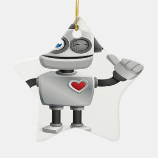 """Robot 1"" Ceramic Ornament"
