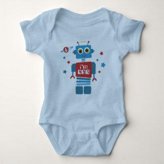 Robot 1st Birthday Baby Bodysuit