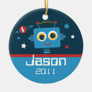Robot 1st Birthday Personalized Ornament