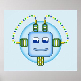 """Robot 24"""" de Booboobot x 20"""", papel de poster Póster"""