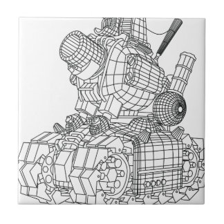 robot-2 ceramic tile