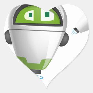 """""""Robot 2"""" Heart Sticker"""