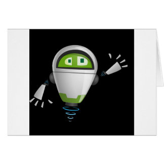 """""""Robot 2"""" in black Greeting Cards"""