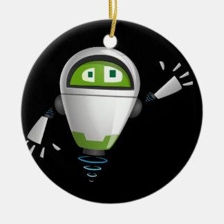 """""""Robot 2"""" in black Ceramic Ornament"""