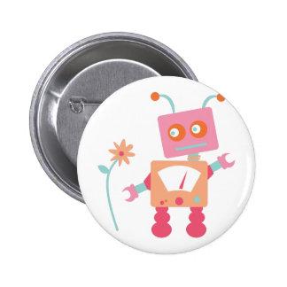 Robot 2 Inch Round Button