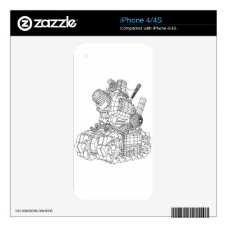 robot-2 skin for iPhone 4