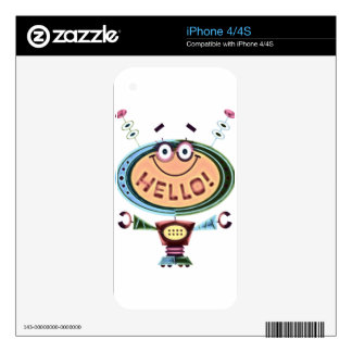 Robot 2 skins for iPhone 4