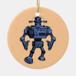 Robot 313 - azul ornamento de navidad